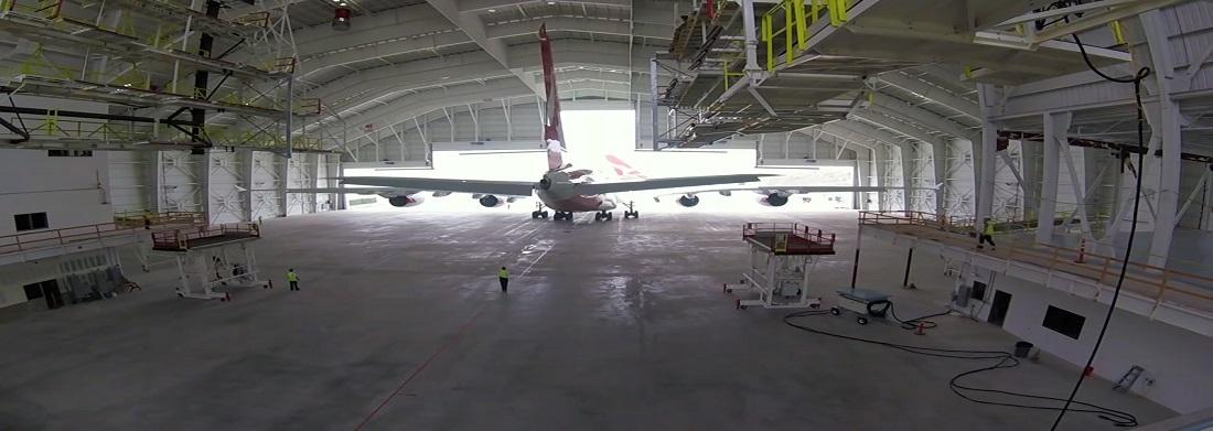 LAX Qantas Airbus A380 Hangar